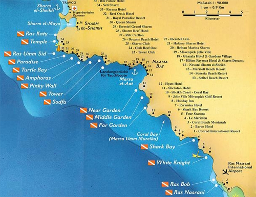 Mapjpg - Map of egypt holiday resorts