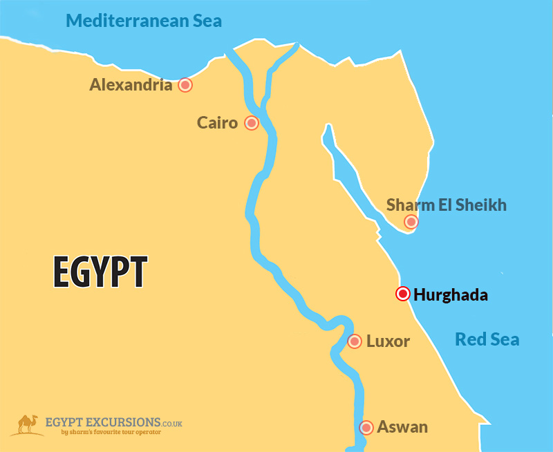 Hurghada Excursions Trips Tours From Hurghada - Map of egypt holiday resorts