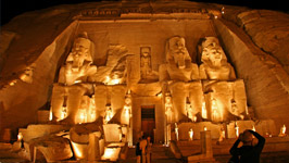 Sound & Light Show at Abu Simbel ( Stopped Now )